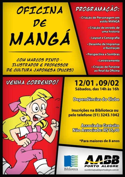 Oficina de Mangá e Cartoon na AABB em Porto Alegre!